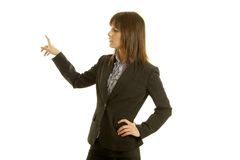 Businesswoman doing presentation Royalty Free Stock Image