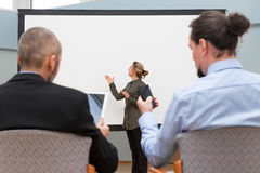 Businesswoman is doing a presentation Royalty Free Stock Photo