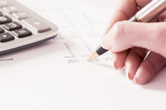 Businesswoman doing some paperwork Royalty Free Stock Photo