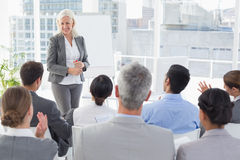 Businesswoman doing speech during meeting Royalty Free Stock Photography