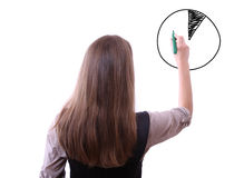 Businesswoman drawing graph Royalty Free Stock Images
