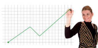 Businesswoman drawing a graph Royalty Free Stock Photography
