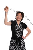 Businesswoman Drawing Growth Chart Stock Images