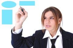 Businesswoman drawing plan royalty free stock image