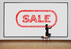 Businesswoman drawing sale Stock Images