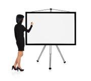 Businesswoman drawing Stock Photos