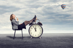 Businesswoman dreaming Royalty Free Stock Image