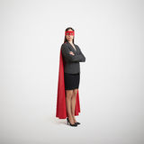 Businesswoman dressed as a superhero Stock Photography