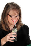 Businesswoman With Drink Royalty Free Stock Photo