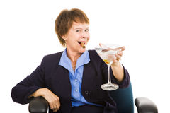 Businesswoman Drinking Stock Photo