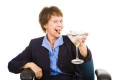 Businesswoman Drinking Stock Photo
