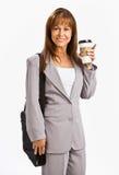 Businesswoman drinking coffee Stock Image