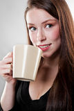 Businesswoman drinking coffee Royalty Free Stock Photos