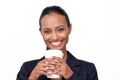 Businesswoman drinking a cup of coffee Royalty Free Stock Photo