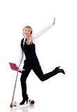 Businesswoman drive scooter Royalty Free Stock Photography
