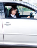 Businesswoman driving Stock Photography