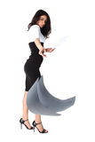 Businesswoman dropping paper Royalty Free Stock Photography