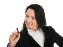 Businesswoman dwring a sketch using marker Stock Photo