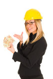 A businesswoman with earnings Royalty Free Stock Image