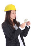 Businesswoman with earnings Stock Photo