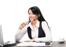 A businesswoman with an electronic cigarette Royalty Free Stock Photography