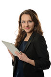 Businesswoman With Electronic Tablet Royalty Free Stock Photos
