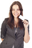 Businesswoman with empty blank Stock Photography