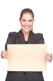 Businesswoman with envelope Royalty Free Stock Images