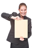 Businesswoman with envelope Royalty Free Stock Photography