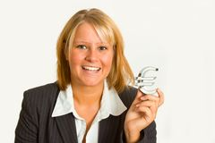 Businesswoman with euro sign Stock Image
