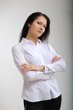 Businesswoman examining. Stock Photography