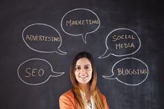 Businesswoman expertise stock images