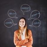 Businesswoman expertise stock photo