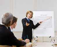 Businesswoman explaining chart Royalty Free Stock Photos
