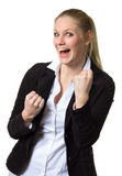 Businesswoman expressing success Royalty Free Stock Images
