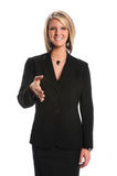 Businesswoman Extending Hand for Handshake Stock Photos