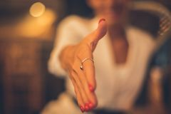 Empty hand. royalty free stock images