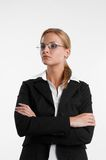 Businesswoman with eyeglasses Royalty Free Stock Photo