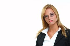 Businesswoman with eyeglasses Stock Photo