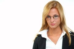 Businesswoman with eyeglasses Stock Image