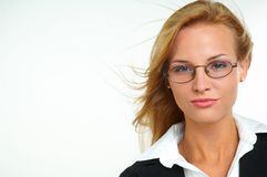 Businesswoman with eyeglasses Royalty Free Stock Image