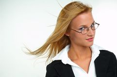 Businesswoman with eyeglasses Stock Images