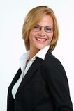 Businesswoman with eyeglasses. Young blond businesswoman with eyeglasses Royalty Free Stock Image