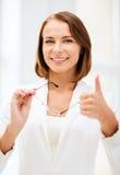Businesswoman with eyeglasses Royalty Free Stock Photos