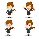 Businesswoman facial expressions Royalty Free Stock Photos