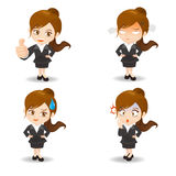 Businesswoman facial expressions Stock Images