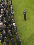 Businesswoman Facing Group Of Executives Stock Photos