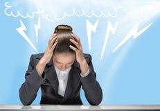 Businesswoman facing problems Stock Photos