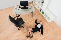 Businesswoman Fainted In Office Stock Photography
