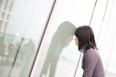 Businesswoman feel uncomfortable Stock Photos
